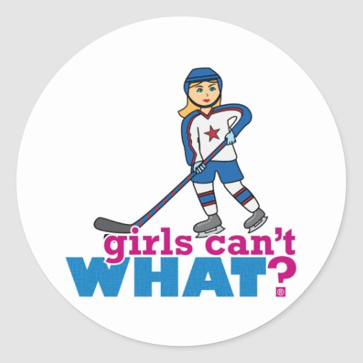 Girls Can't WHAT? Colorize Me Custom Designs Round Stickers