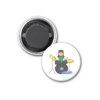 Girls Can't WHAT? ColorizeME Custom Design 1 Inch Round Magnet