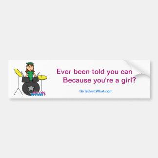 Girls Can't WHAT? ColorizeME Custom Design Car Bumper Sticker