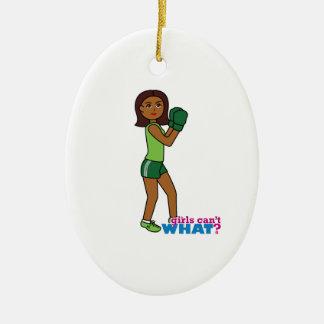 Girls Can't WHAT? ColorizeME Custom Design Ceramic Ornament