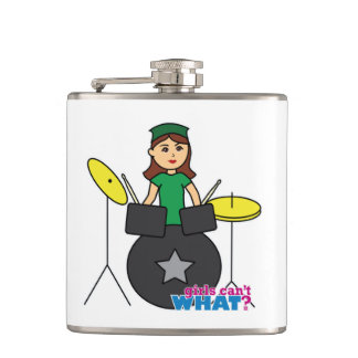 Girls Can't WHAT? ColorizeME Custom Design Hip Flask