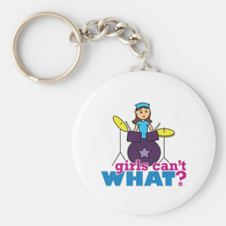 Girls Can't WHAT? ColorizeME Custom Design Keychain