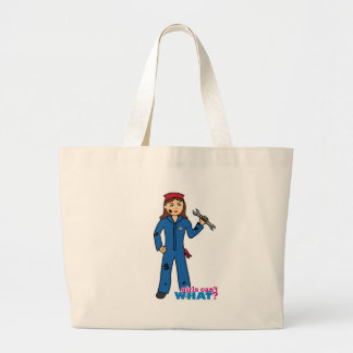 Girls Can't WHAT? ColorizeME Custom Design Large Tote Bag