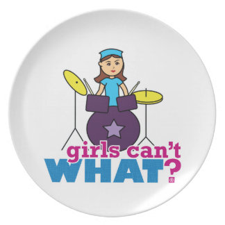 Girls Can't WHAT? ColorizeME Custom Design Plate