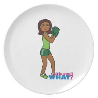 Girls Can't WHAT? ColorizeME Custom Design Dinner Plate