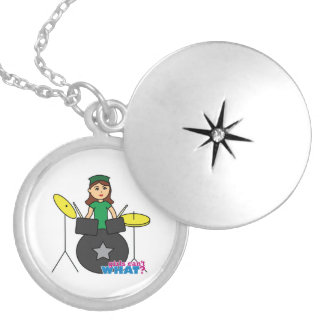 Girls Can't WHAT? ColorizeME Custom Design Round Locket Necklace