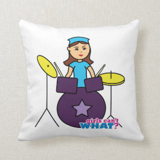 Girls Can't WHAT? ColorizeME Custom Design Throw Pillow