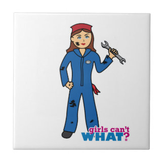 Girls Can't WHAT? ColorizeME Custom Design Small Square Tile