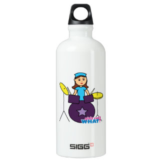Girls Can't WHAT? ColorizeME Custom Design Water Bottle