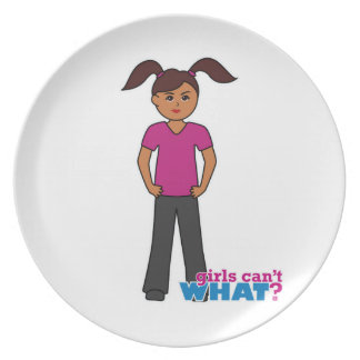 Girls Can't What - Dark Dinner Plates