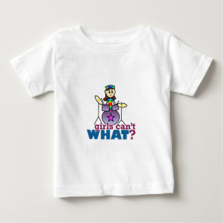 Girls Can't WHAT? Drummer Girl Logo Baby T-Shirt