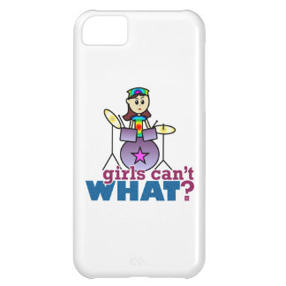 Girls Can't WHAT? Drummer Girl Logo iPhone 5C Case