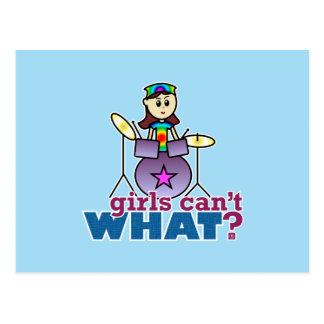 Girls Can't WHAT? Drummer Postcard