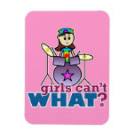 Girls Can't WHAT? Drummer Rectangular Photo Magnet