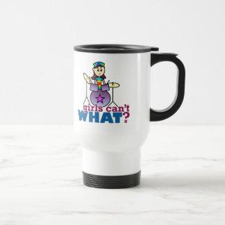 Girls Can't WHAT? Drummer Travel Mug