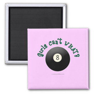 Girls Can't WHAT? Eight Ball Refrigerator Magnets