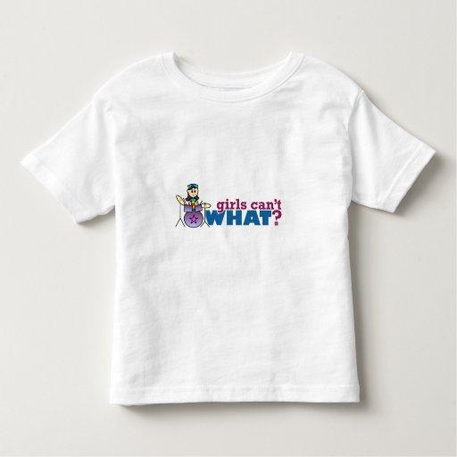 Girls Can't WHAT? Girl Drummer Logo T-shirt