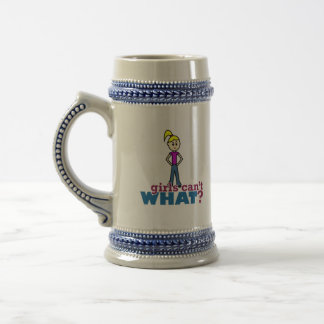 Girls Can't WHAT? Girl 18 Oz Beer Stein