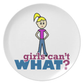 Girls Can't WHAT? Girl Dinner Plate