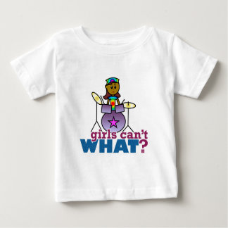 Girls Can't WHAT? Girl Playing Drums Baby T-Shirt