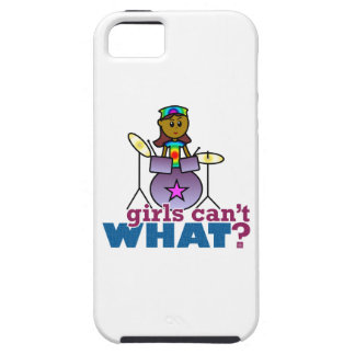 Girls Can't WHAT? Girl Playing Drums iPhone 5 Case