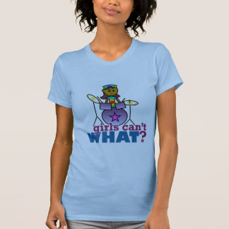 Girls Can't WHAT? Girl Playing Drums Tank Top