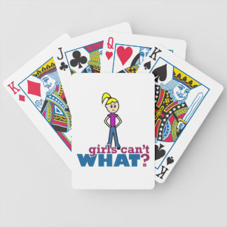 Girls Can't WHAT? Girl Bicycle Card Deck