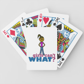 Girls Can't WHAT? Girls Bicycle Poker Cards