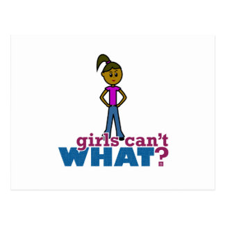 Girls Can't WHAT? Girls Postcard