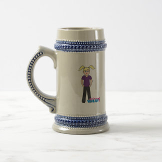Girls Can't What - Light/Blonde Beer Stein