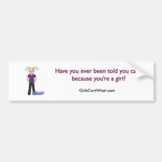 Girls Can't What - Light/Blonde Bumper Sticker