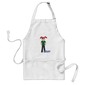 Girls Can't What - Light/Red Adult Apron