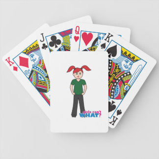 Girls Can't What - Light/Red Poker Deck