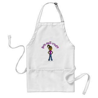 Girls Can't WHAT? Logo-Dark Girl Adult Apron