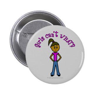 Girls Can't WHAT? Logo-Dark Girl Pin