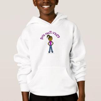 Girls Can't WHAT? Logo-Dark Girl Hoodie