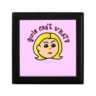Girls Can't WHAT? Logo Head-Blonde Jewelry Box
