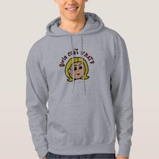 Girls Can't WHAT? Logo Head-Blonde Hoodie