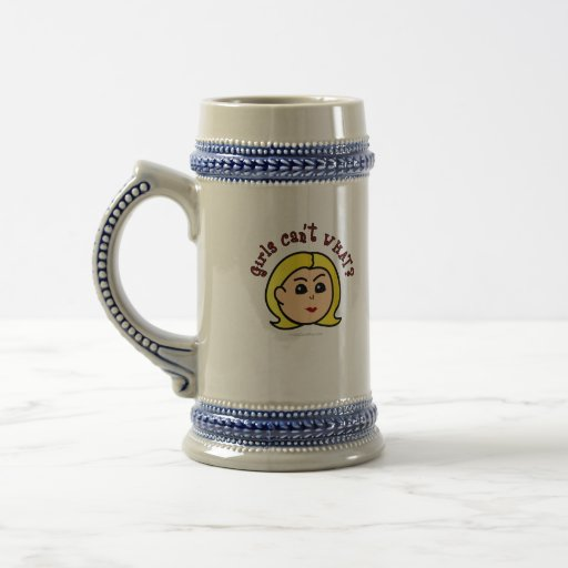 Girls Can't WHAT? Logo Head-Blonde Mugs