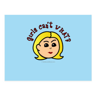 Girls Can't WHAT? Logo Head-Blonde Post Card