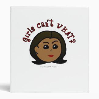 Girls Can't WHAT? Logo Head-Dark Binder