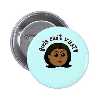 Girls Can't WHAT? Logo Head-Dark Pinback Button