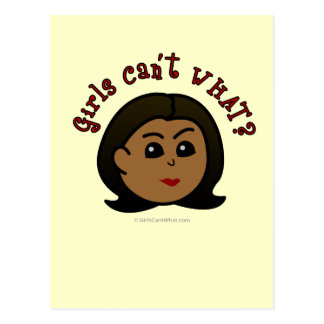 Girls Can't WHAT? Logo Head-Dark Postcard