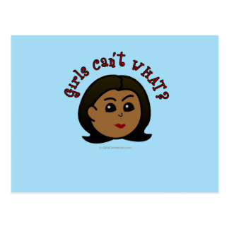 Girls Can't WHAT? Logo Head-Dark Post Cards
