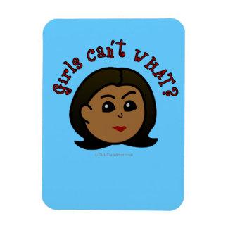 Girls Can't WHAT? Logo Head-Dark Rectangular Photo Magnet