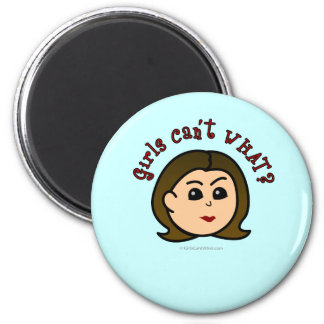 Girls Can't WHAT? Logo Head-Light 2 Inch Round Magnet