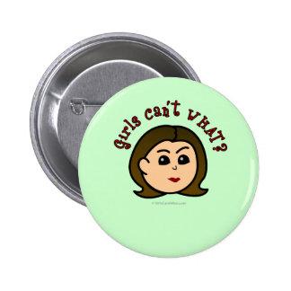 Girls Can't WHAT? Logo Head-Light Button