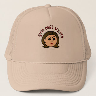 Girls Can't WHAT? Logo Head-Light Trucker Hat