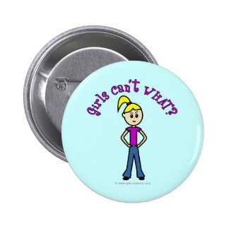 Girls Can't WHAT? Logo-Light Girl Pin