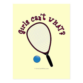Girls Can't WHAT? Raquetball Postcard